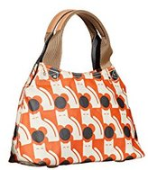 Orla Kiely Poppy Cat Print Small Classic Zip Shoulder Bag