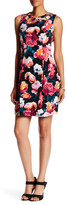 Eliza J Sleeveless Cutout Floral Fit & Flare Dress