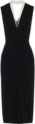 Victoria Beckham Bonded Crepe Midi Dress