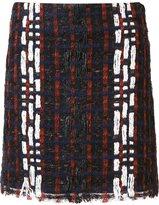 Les Animaux - patterned mini skirt - women - Acrylic/Polyamide/Polyester/Wool - 38