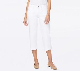 NYDJ Wide Leg Capri Jeans with Utility Pockets