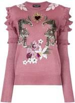 Dolce & Gabbana floral leopard jumper