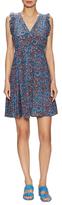 Rebecca Taylor Silk Floral Print Flared Dress