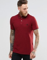 Paul Smith PS by Polo Shirt With PS Logo In Slim Fit Burgundy