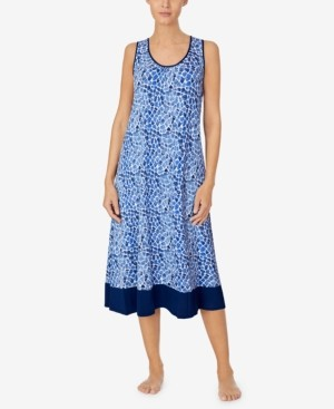 Cuddl Duds Sleeveless Printed Nightgown