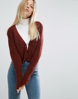 Asos Cropped Cardigan with V Neck