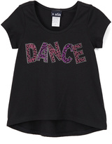 A Wish Black & Pink Sequin 'Dance' Tee - Toddler & Girls