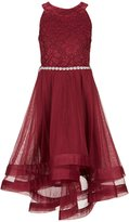 Xtraordinary Big Girls 7-16 Embellished-Waist Horsehair-Hem Dress
