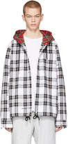 Off-White Black and White Check Hooded Shirt