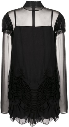 Vera Wang Gathered Silk Dress