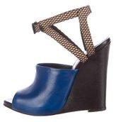 3.1 Phillip Lim Leather Juliette Wedge Sandals