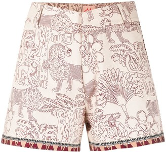 Le Sirenuse Graphic Print Cotton Shorts