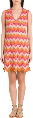 M Missoni Short Dress In Lurex Knit