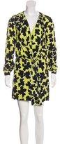 Diane von Furstenberg Dora Lily Crepe Print Mini Dress
