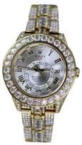 Rolex Sky-Dweller 18K Yellow Gold & Silver Arabic Dial 42mm Mens Watch