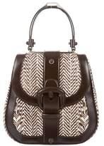 Calvin Klein Collection Leather-Trimmed Ponyhair Satchel