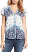 Lucky Brand Bali Ditsy Print Shirt