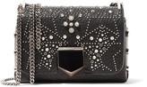 Jimmy Choo Lockett Petite Studded Textured-leather Shoulder Bag
