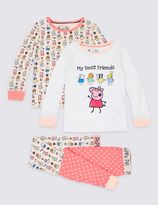 Marks and Spencer 2 Pack Cotton Rich Peppa PigTM Pyjamas (1-7 Years)