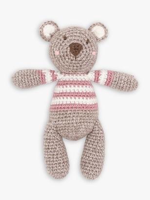 Albetta Crochet Bear Rattle Toy