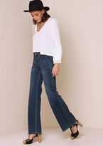 Missy Empire Cassandra Distressed Denim Flared Jeans