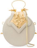 Okhtein - mini Dome clutch bag - women - Leather/Brass - One Size