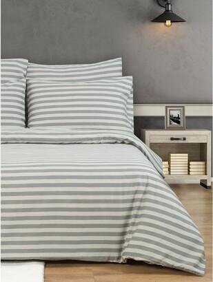 M&Co Striped duvet set