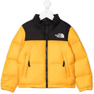 The North Face Kids Nuptse colour-block puffer jacket