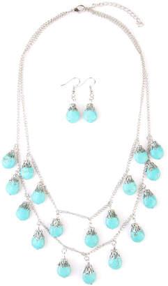 Riah Fashion Turquoise Layer Necklace Set
