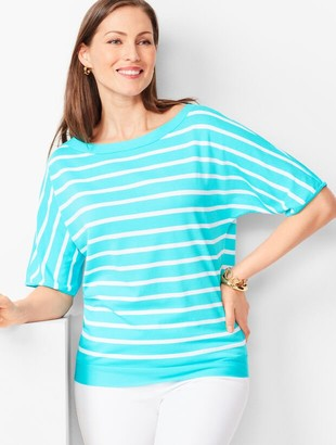 Talbots Dolman-Sleeve Sweater - Stripe
