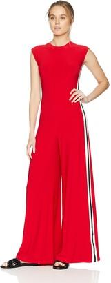 Norma Kamali Women's Side Stripe Sleeveless Jumpsuit