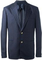 Versace medallion print blazer - men - Silk/Cupro/Viscose - 48