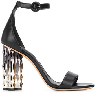 Salvatore Ferragamo Metallic High Heel Sandals