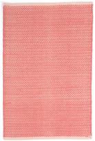 Dash & Albert Herringbone Rug - Coral - 61 x 91 cm