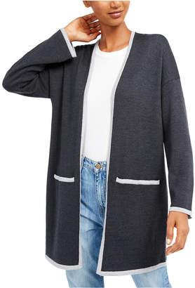 Eileen Fisher Open-Front Merino Wool Cardigan