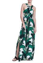 Tracy Reese Foliage-Print Halter Dress