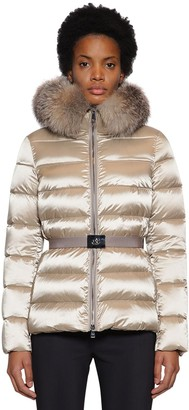 Moncler Tati Nylon Down Jacket W/ Fur