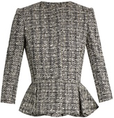 Alexander McQueen Cotton-blend tweed peplum jacket