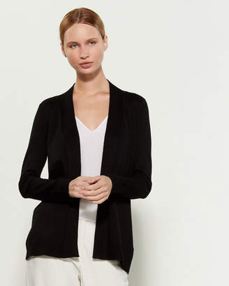 Cable & Gauge Pointelle Back Open Cardigan