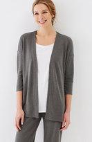 J. Jill Pure Jill Tencel®-Soft Knit Dipped-Hem Jacket