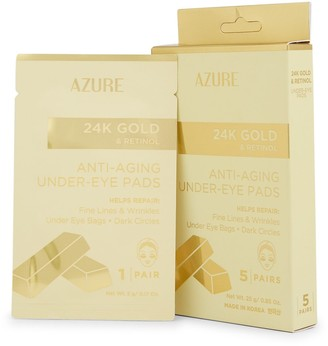 Azure Skincare 24K Gold Retinol Under-Eye Pads 5-Piece Set