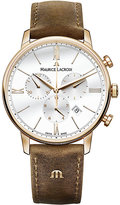 Maurice Lacroix Eliros Men's Rose Gold Plated Strap Watch