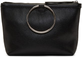 Kara Black Leather Ring Pouch