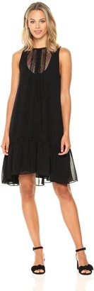Max Studio Women's Sleeveless Hi-Low Dress with Ruffle Hem