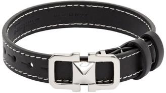 Salvatore Ferragamo Black Leather Bracelet