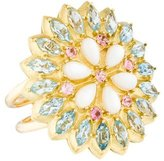 Paul Morelli 18K Aquamarine, Tourmaline & Mother of Pearl Applique Cocktail Ring