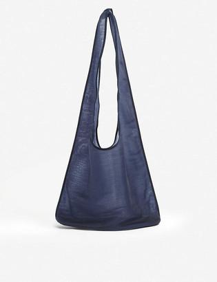 The Row Bindle semi-sheer mesh hobo bag