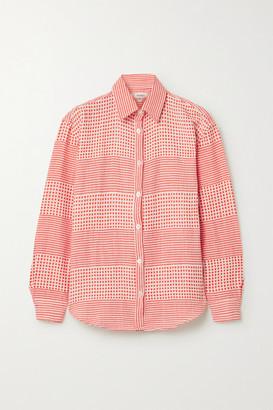 Lemlem Semira Cotton-gauze Shirt - Coral