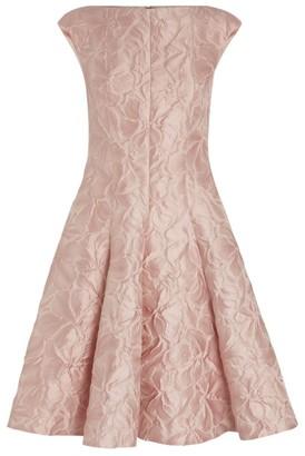 Talbot Runhof Korbut Jacquard Mini Dress