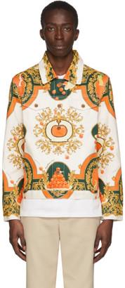 Casablanca White Denim Les Oranges Jacket
